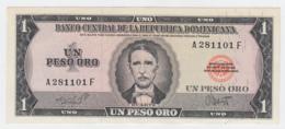 Dominican Republic 1 Peso Oro ND 1964 - 1973 AUNC Pick 99 - Dominicana