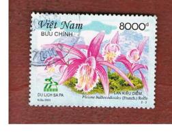VIETNAM - MI  3303  -   2003  FLOWERS: ORCHIDS (PLEIONE)        -    USED - Vietnam