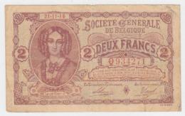 Belgium 2 Francs 1916 Fine Pick 87 - [ 2] 1831-... : Royaume De Belgique