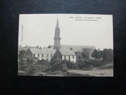 Carte Postale Ancienne De Plogoff - Vue Générale - L'Eglise - Environs De La Pointe Du Raz - Plogoff