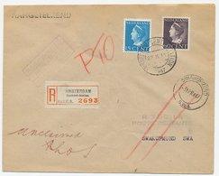 Em. Konijnenburg Aangetekend Amsterdam - SWA 1947 Poste Restante - Periode 1891-1948 (Wilhelmina)