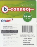 BULGARIA - B-connect By Globul Prepaid Card 25 Leva, Exp.date 19/02/05, Sample - Bulgarie