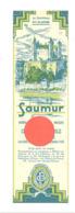Marque-pages - Chemins De Fer, Circuit Automobile Du Saumurois - SAUMUR , Loire Et Château 1932 (b260/4) - Marque-Pages