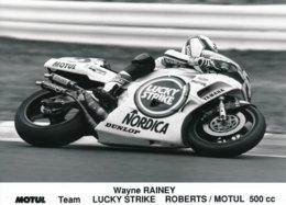Wayne Rainey Team Lucky Strike Roberts Sur Moto Motul 500 Cc - Photo 18 X 13 Cm Env. - Deportes