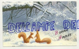 Mignonnette. Bonne Année. Ecureuils Dans La Neige. 8/13 Cm. - New Year