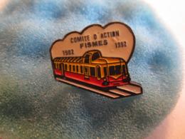 B Pin's Pin S Fismes Train - Cities