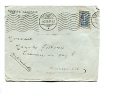 GREEK COMMERCIAL COVER - CIRCULATED PIRAEUS TO MARSEILLE, FRANCE. YEAR 1917. WITH FRANKING MECHANIC - LILHU - Grecia