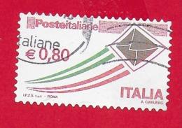 ITALIA REPUBBLICA USATO - 2014 - Posta Italiana - Serie Ordinaria - € 0,80 - S. 3102D - 2011-...: Afgestempeld