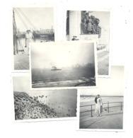 """Lot De 5 Photos ( +/- 6 X 9 Cm ) .OOSTENDE / OSTENDE 1933 - Kust, Plage, Digue, Malle """" Marie-José """",... (b249) - Places"""