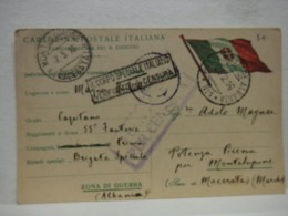 POSTA MILITARE  I  GUERRA  --- EDIZ. PRIVATA  -- P.M.  N° 1  ALBANIA - War 1914-18
