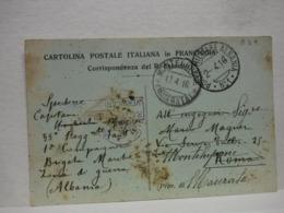 POSTA MILITARE  I  GUERRA  --- EDIZ. PRIVATA  -- P.M.  N° 1  ALBANIA - Guerre 1914-18