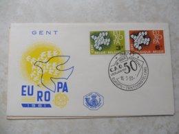Fdc Belgique 1961 Europa Gent - 1951-60