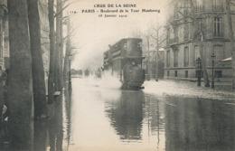 Tram Tramway Imperiale  Crue De La Seine Bd Tour Maubourg. ELD - Tramways