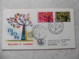 Fdc Belgique 1962 Europa Woluwe Saint Lambert ( Namur Auvelais ) - 1961-70