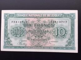 BELGIUM P122 10 FRANCS 01.02.1943 AUNC - [ 2] 1831-... : Belgian Kingdom