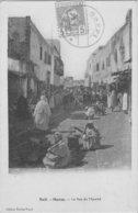 SAFI - MAROC - La Rue Du Marché Oblitération SAFI Et Timbre - Andere