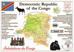 1 Map Of Democratic Republic Of Congo * Landkarte Demokratische Republik Kongo, Flagge Und Weiteren Informationen * - Andere
