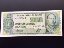 BOLIVIA P170 50000 PESOS BOLIVIANOS 5.6.1984 UNC - Bolivia