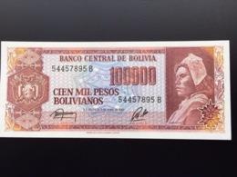 BOLIVIA P171 100000 PESOS BOLIVIANOS 5.6.1984 UNC - Bolivia
