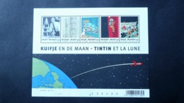 BL 109** (3249/3253)  Neuf  2004  - Tintin Et La Lune – Le 75 ème Anniversaire De Tintin - Blocks & Sheetlets 1962-....