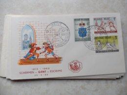 Fdc Belgique 1963 Numero 1246/48  Escrime Gent - 1961-70