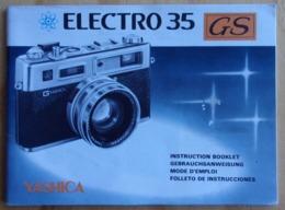 YASHICA - ELECTRO 35 GS - Manuel D'utilisation - Instruction Booklet - Gebruiksaanwijzing - Foto - Photo - Vieux Papiers