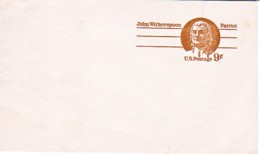 USA : Carte Entier Postal Neuf - John Witherspoon - Patriot - Postwaardestukken