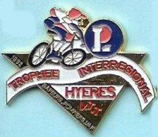 @@ Leclerc VTT Vélo Cycle Trophée Inter Régional Sapeurs Pompiers HYERES Var 1992  @@pom55 - Feuerwehr