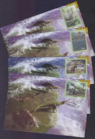 BRAZIL 2014 - Prehistoric Animals, MAXIMUM CARD Complete Set Of 4 Cards - Maximum Cards