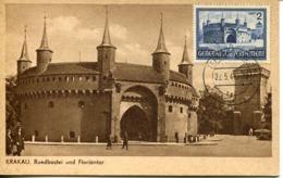 48502 Germany Reich (generalgouvernement) Maximum Krakau Bastion Fortress,architecture,fist Day Postmark  22.5.1941 RR - Briefe U. Dokumente