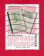ITALIA REPUBBLICA USATO - 2013 - Giornata Della Filatelia - Letteratura Filatelica - € 0,70 - S. 3416 - 6. 1946-.. Republic