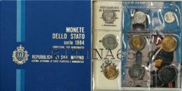 SAN MARINO DIVISIONALE ANNO 1984 9 VALORI FDC SET ZECCA - San Marino