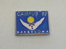 Pin's BARCELONA 92, CLUB CAMPUS B, Signe MARTINEAU - Cities