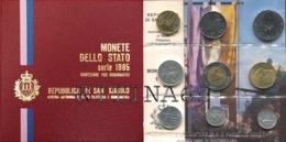 SAN MARINO DIVISIONALE ANNO 1985 9 VALORI FDC SET ZECCA - San Marino
