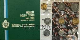 SAN MARINO DIVISIONALE ANNO 1986 9 VALORI FDC SET ZECCA - San Marino