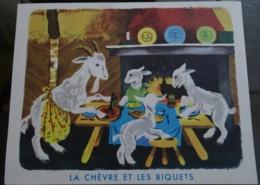 """Image """"albums Du Père Castor """" Premières Lectures """"  - La Chèvre Et Les Biquets - Publicidad"""