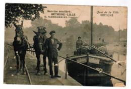 Bethune, Quai De La Ville, Service Accéléré, Béthune-Lille, G Vanderriel, Péniche,  (pk63023) - Bethune