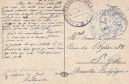 Militaire Belge Interné Aux Pays-Bas (Zeist)-(Expeditiekantoor Veldpost B (Utrecht) 15/7/15 - WW I