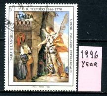 ITALIA  REPUBBLICA - Year 1996 - 300° Nascita GIANBATTISTA TIEPOLO  - Usati Used Viaggiati Timbrati Utilisè Gebrauchtm. - 6. 1946-.. República