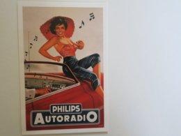 SL - CPM - REPRODUCTION PUBLICITE - PHILIPS AUTORADIO - Reclame