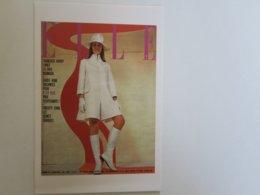 SL - CPM - REPRODUCTION PUBLICITE - COUVERTURE DE ELLE - Françoise HARDY - Advertising