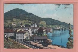 OUDE POSTKAART ZWITSERLAND - SVIZZERA - TRANSPORT -   PONTE TRESA MET ZICHT OP STATION / SPOOR - TI Ticino