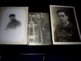 Militaria  Lot De 4  Photos De Militaires Différentes A Identifier Années 40? - Anonyme Personen