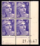 Coin Daté Gandon N° 718 Du 21/10/1947 ** - 1940-1949