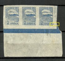 ESTLAND ESTONIA 1920 Michel 17 Als 3-Streife (*) NB! - Estland
