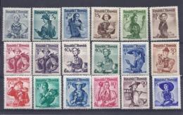 190032175  AUSTRIA  YVERT   Nº  738A/754A  (EXCEPT Nº 754A)  **/MNH - 1945-60 Unused Stamps