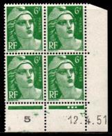 Coin Daté Gandon N° 884 Du 12/4/1951 ** - 1950-1959
