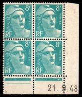Coin Daté Gandon N° 810 Du 21/9/1948 ** - 1940-1949