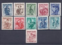 190032176  AUSTRIA  YVERT   Nº  740/3+745/9+752/3  MH/MNH - 1945-60 Nuevos & Fijasellos