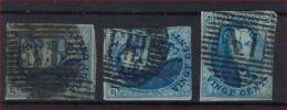 Medaillon 20 Cent 3 X Met ZELDZAME AMBULANT - Afstempelingen ; Staat Zie Scan ! - 1858-1862 Medallions (9/12)